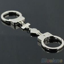 Latest Romantic Lover's Double Handcuffs Metal Keyring Key Fob Keychain Gadget