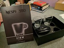 2 Espresso cups and saucers, boxed new, Nespresso View Collection