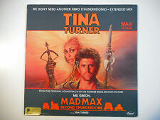 """MAXI 12"""" POP 80s  ▒ TINA TURNER : WE DON'T NEED ANOTHER HERO ( EXTENDED MIX )"""