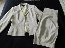 NANETTE LEPORE* ROBESPIERRE LOVELY CREAM YELLOW & GRAY PANTS SUIT 10 *EUC* USA