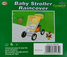 Stroller Pram Raincover Emergency Pushchair Weatherproof Plastic Rain Cover