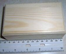 1 Unfinished Wooden Mini Card Trinket Box With Hinged Lid & Magnetic Closure