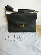BNWT Pure Collection  black leather Burlington cross body/clutch handbag