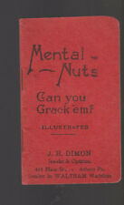 Mental Nuts Can You Crack Em 1910 Booklet JH Dimon Waltham Watches