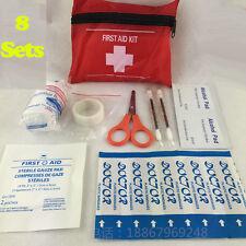 8 Set Homeuse Medical Mini Kit Primo Soccorso Sport Escursionismo Avventura