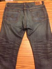 Authentic Men's RRL Selvedge Red Line Denim Jeans Size 38 X 32 USA Made Double R