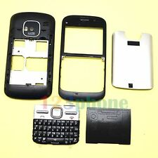 BRAND NEW KEYPAD + COVER + LENS + CHASSIS FULL HOUSING FOR NOKIA E5 #BLACK