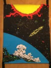 Vintage black light poster No. 2 Houston Pin-up 1970's Outer Space Stars Sun