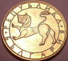 Gem Unc Bulgaria 1992 20 Stotinki~Ancient Lion Sculpture~Awesome~Free Shipping