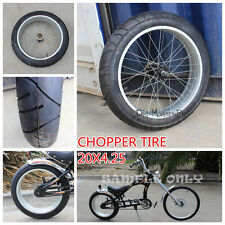 20 INCH 20X4.25 WHEEL SLEEK TYRE ALLOY RIM CUSTOM HARLEY  CHOPPER BIKE BICYCLE