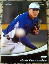 JOSE FERNANDEZ 2011 Leaf Limited Edition Rookie Card RC Cuba Miami Marlins RIP