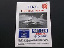 VINTAGE TOP GUN AIRCRAFT CO. F16 C FIGHTING FALCON  MIG 29 BROCHURES   *EX-COND*