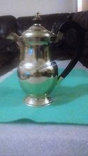 ANTIQUE SILVER PLATED EPNS COFFEE POT EBONY WOODEN HANDLE EXCELLENT CONDITION