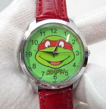 "Nickelodeon,""RAPH"" Teenage Mutant Ninja Turtles, MENs KIDs CHARACTER WATCH, 687"