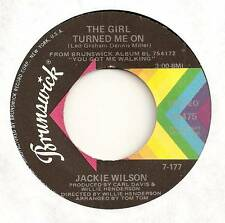 JACKIE WILSON 45 THE GIRL TURNED ME ON B/W FOREVER AND A DAY EX BRUNSWICK 55475