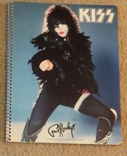 KISS PAUL STANLEY NOTEBOOK 1978 AUCOIN COMPLETE