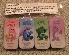 4 VINTAGE CARE BEARS LIP GLOSS NEW SEALED GRUMPY GOOD LUCK SHARE CHEER