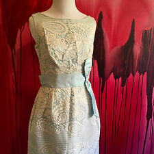 Blue and Lace Vintage Dress, Vintage 1960s Bridesmaid or Maid of Honor Wedding