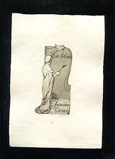 EXLIBRIS,363a, Papari Galon - Jugendstil Dame