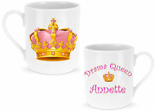 Personalised Drama Queen Mug Ideal GIFT for any DIVA at Christmas / Birthday