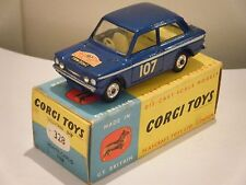 "Corgi No: 328 ""Hillman Imp Monte Carlo"" - Blue/YELLOW INTERIOR (Boxed/SCARCE)"