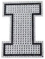 LARGE CAR AUTO NCAA ILLINOIS CRYSTAL RHINESTONE BLING ADHESIVE EMBLEM DECAL NIP