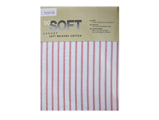 HOUSE ADDITIONS Tartan STRIPE Polyester microfibre Fitted Sheet SINGLE