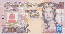 Gibraltar banknote 20 pounds (2004) Tercentenary Commemorative B129 P-31  UNC