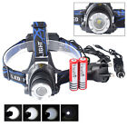 5000LM CREE XML T6 LED Head Torch 18650 Headlamp Headlight 18650 Battery Charger