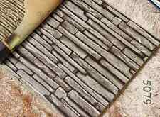 3D STONE Slate Dard Grey Project Antique Wallpaper Cafe Restaurant Shop 5079