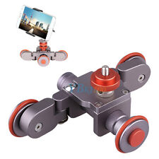 Durable Camera Rail Rolling Track Slider Skater Mobile Table Auto Dolly Car MF
