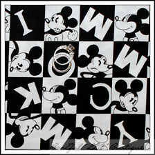 BonEful Fabric FQ B&W Classic DISNEY Antique Mickey Mouse Face Block VTG HTF OOP