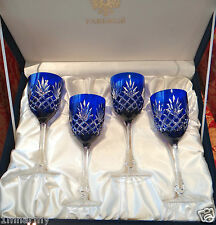 FABERGE ODESSA WINE GLASS GOBLETS, ALL signed Faberge 1 signed Tatiana Faberge
