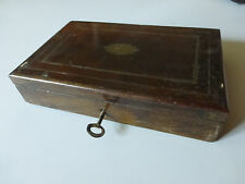 Ancienne boite  coffret à clé en bois palissandre ?  napoleon III liseret bronze