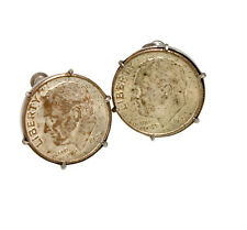 1947 Roosevelt U.S. 10 Cent Coin Lady's Earrings (Obverse Uncirculated)  C.1947