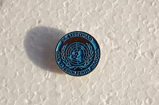 UN / United Nations / 24th October - UN day / vintage political PIN LAPEL badge
