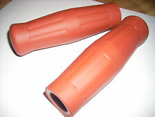 """Coke Bottle Handlebar Grips for BICYCLE Brick Red Clay Red vintage 7/8"""" + 7/8"""""""