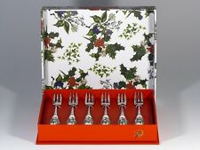 Portmeirion The Holly and the Ivy 6 Kuchengabeln pastery forks Besteck ►NEU◄ OVP
