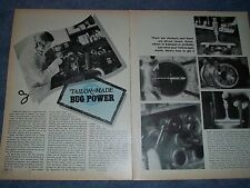 """1970 VW Engine How To Tech Info Vintage Article """"Tailor-Made Bug Power"""""""