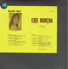 EIDE NORENA soprano - LP CLUB 99 cl 99-32 sealed SIGILLATO