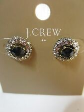 J.Crew Crystal Stud Earrings NWT $19.50 item B0380 Black