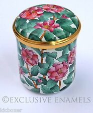 Halcyon Days Enamels Camellias Enamel Box