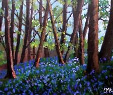 ORIGINALE IMPRESSIONISTA Painting by Melanie reynoso: Bluebell Forest TAPPETO