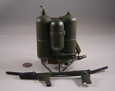 WWII soldier story U.S. marine corps metal flamethrower 1/6 Toys USMC Iwo Jima