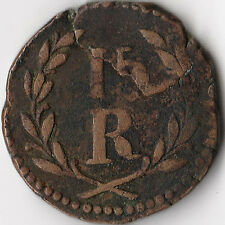 ND (1834 - 1853) Portuguese India - Goa 15 Reis Coin KM#263 Rare