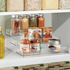 Kitchen Cabinet Spice Jar Rack Organizer 3 Tier Shelf Clear Perfume Cupboard NEW
