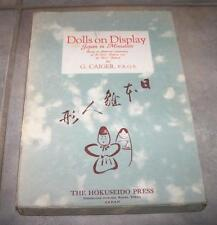 1933 VINTAGE DOLLS ON DISPLAY JAPAN IN MINIATURE FIRST EDITION IN BOX G CAIGER