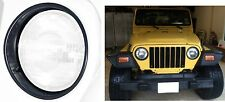 PAIR Black Headlight Bezels Trim For 1997-2006 Jeep Wrangler New Free Shipping