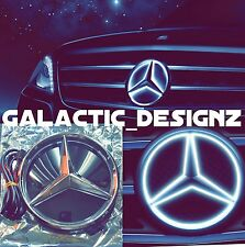 Mercedes-Benz Logo Mirror Grille White LED Light Illuminated Star Badge Emblem