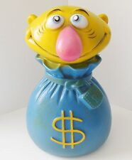 1971 Vintage Play Pal Plastics 'Mr. Money Bags Collectible' Coin Bank